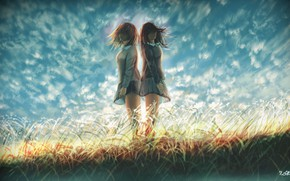 Picture the sky, grass, girls