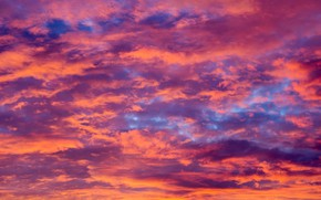 Picture the sky, clouds, sunset, background, pink, colorful, sky, sunset, pink, beautiful