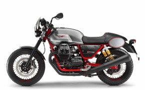 Picture white background, side, III, Racer, Moto Guzzi, V7