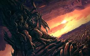 Wallpaper Monster, Bones, The demon, Fiction, Illustration, Demon, Characters, Lovecraft, Necronomicon, Creatures, Lovecraft, Walter Brocca, by ...