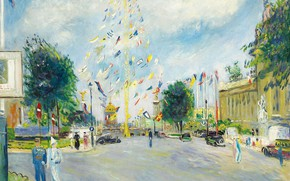 Picture picture, the urban landscape, Lucien Adrion, Lucien Adrion, World Exhibition Of 1937. Paris