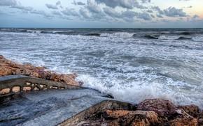 Picture sea, shore, Mazraia, Gouvernorat de Médenine