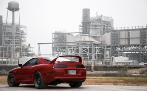 Picture Red, Toyota, Car, Ass, Supra