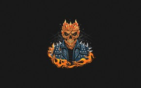 Picture Minimalism, Fire, Monster, Style, Background, The demon, Fire, Monster, Art, Art, Style, Background, Minimalism, Character, …