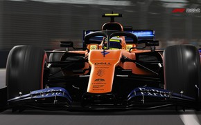 Picture track, racing car, F1 2019, Mclaren MCL34