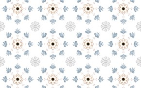 Picture flowers, retro, background, pattern, texture