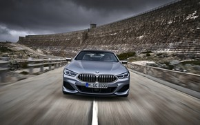 Picture road, wall, coupe, BMW, Gran Coupe, racing, 8-Series, 2019, the four-door coupe, Eight, G16, steel …