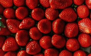 Picture light, berries, strawberry, red, a lot, bokeh, Victoria, juicy, laid