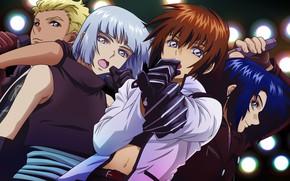 Picture group, anime, art, guys, Gundam, Mobile Suit Gundam, sing