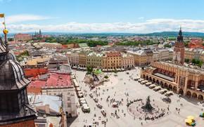 Picture home, area, Poland, monument, Krakow, Mariacka square, Main market