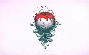 Picture blood, art, eye, Jose Fernandez