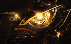 Picture eyes, cyborg, GeForce GTX 1080 nVidia