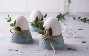Picture leaves, eggs, stand, twigs