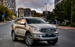 Picture asphalt, the city, street, Ford, Everest, Limited, 4WD, 2019
