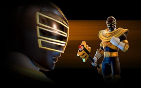 Picture game, armor, weapon, Power Rangers, staff, Jason Lee Scott, Zeo, Power Rangers: Legacy Wars, gold …
