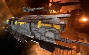 Picture nebula, station, asteroids, Space, space, spaceship, eve online, space ship, coooper