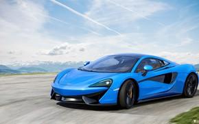 Picture McLaren, Blue, Machine, Car, Render, Supercar, Rendering, Sports car, Blue color, 570S, McLaren 570S, Transport …