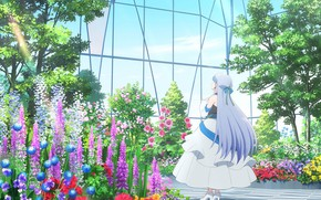 Picture girl, flowers, Shironeko Project Zero Chronicle, Shironeko Project: Zero Chronicle