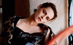 Picture look, girl, portrait, earrings, Kristen Stewart