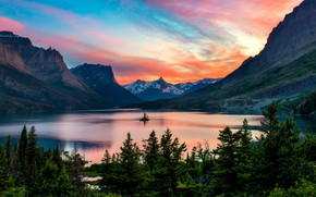 Picture Nature, Landscape, Mountain, Lake, Trees