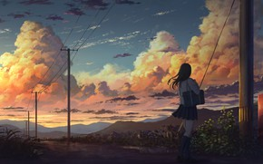 Picture Clouds, Girl, The evening