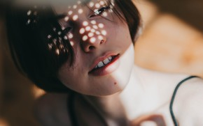 Picture lighting, mole, sponge, teeth, bangs, Taisia, Maxim Grachev