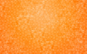 Picture orange, abstraction, background, pattern, geometry, triangle