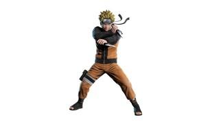 Picture look, minimalism, Naruto, Naruto, kunai, Uzumaki Naruto