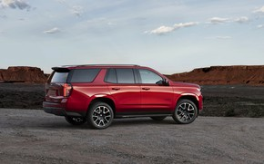 Picture Chevrolet, side view, SUV, Tahoe, 2020