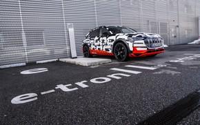 Picture asphalt, Audi, Parking, 2018, E-Tron Prototype