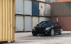Picture Mercedes, Black, S550, Luxury, W222, Sight