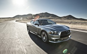 Picture Speed, Dodge Charger, Road, Vehicle