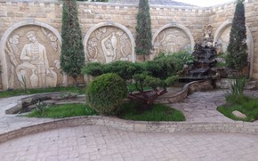 Picture Park, wall, fountain, Mamala ©