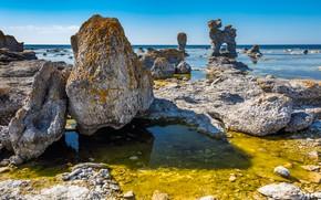 Picture sea, stones, rocks
