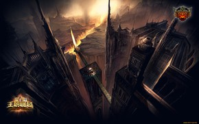 Picture castle, cleft, dark, Perfect World
