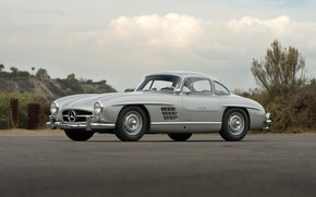 Picture Silver, Classic Car, Mersedes Benz 300SL