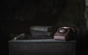 Picture background, book, phone
