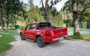 Picture red, Mercedes-Benz, pickup, 2018, the pond, X-Class