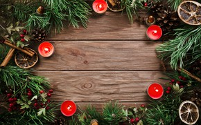 Picture tree, candles, New Year, Christmas, Christmas, bumps, wood, New Year, decoration, Merry, fir tree, fir-tree …