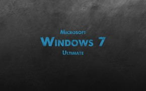 Picture wall, windows 7, scratches, microsoft, black background, ultimate