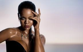 Picture decoration, tattoo, Singer, Rihanna, nails, Rihanna, singer