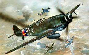 Picture Messerschmitt, Bomber, B-17, Bf-109, Gustav, Bf.109G-10, External fuel tank