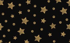 Picture stars, gold, golden, black background, black, background, stars