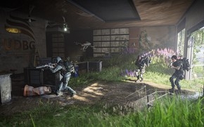 Picture weapons, soldiers, drone, Tom Clancy's The Division 2