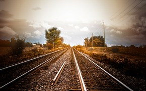 Picture light, perspective, railroad