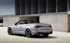 Picture grey, Audi, the building, convertible, Audi A5, A5, 2019, A5 Cabriolet