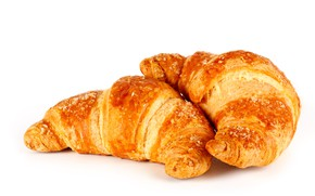 Picture white background, two, croissant