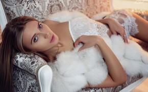 Picture look, sofa, Girl, Alexander Yushkevich, Peace Aliyev