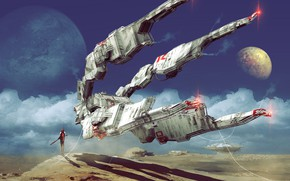 Picture People, Planet, Fantasy, Art, Art, Spaceship, Surface, Fiction, Concept Art, Spaceship, Vehicles, Science Fiction, Spacecraft, …
