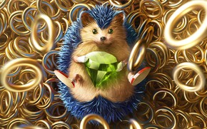 Picture The game, Sonic, Art, Art, Ring, Rings, Digital Art, Diamond, Sonic, Fan Art, Characters, Sonic …